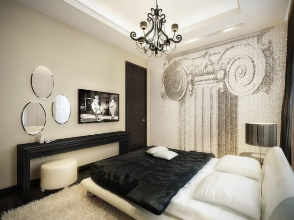 black and white super luxurious1 665x498 Luxury Vintage Apartment