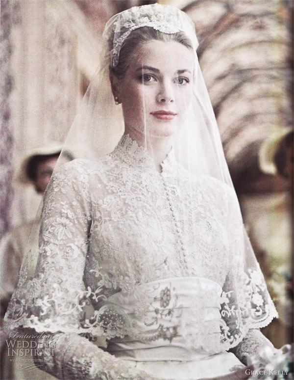 grace kelly wedding dress Istorija venčanice