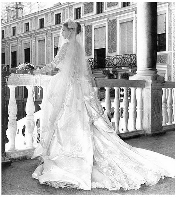 grace kelly wedding bride Istorija venčanice