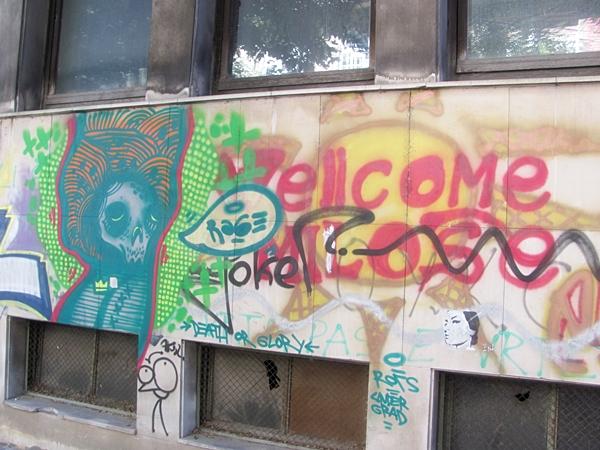 grafiti 77 Wannabe Street Art: Gornji Dorćol