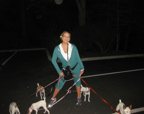 mariah carey workout jog dogs twins photo Trach Up