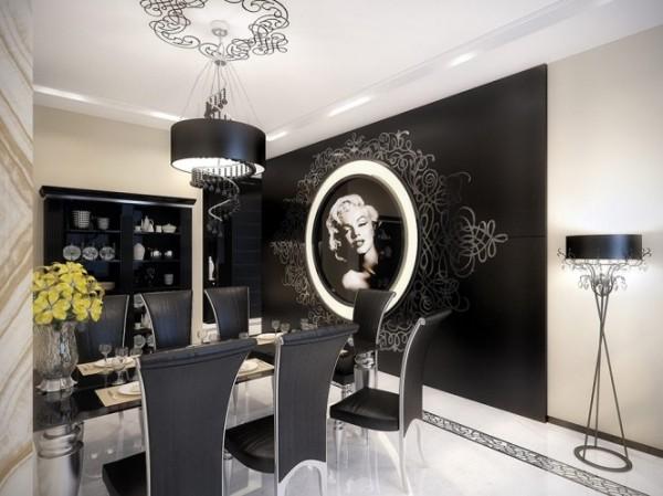 marilyn monroe dining room1 665x498 Luxury Vintage Apartment