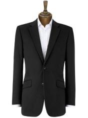 men brush cotton suit jacket black 4079567 med Savet za muškarce: Šta nositi na kraći poslovni put?