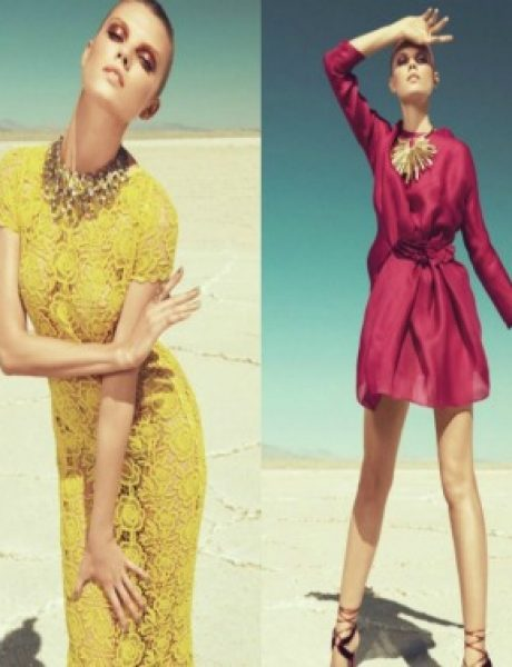 "Maryna Linchuk za ""Harper's Bazaar US"" septembar 2011."