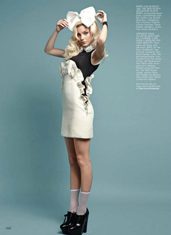 57 Jessica Stam za Flare   septembar 2011.