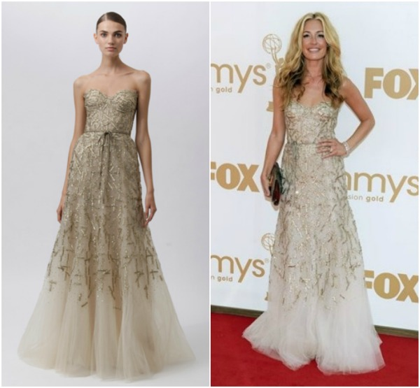Cat Deeley in Monique Lhuillier Resort 2012 Fashion Police   Emmy 2011.