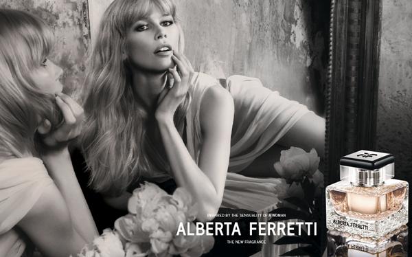 Claudia Schiffer Alberta Ferretti New Fragrance Perfume Fall 2011 Haljine iz snova Alberte Ferretti