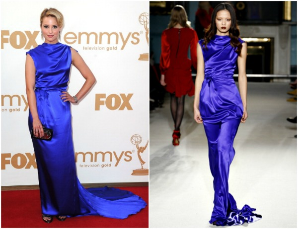 Dianna Agron Fashion Police   Emmy 2011.