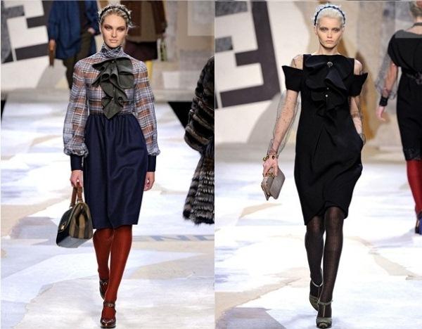 Fendi121 Jesenji trendovi: karneri i slojevite suknje