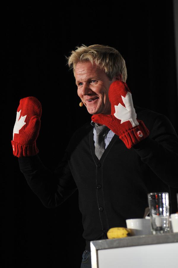 Gordon cooking in Toronto Gordon Ramsay