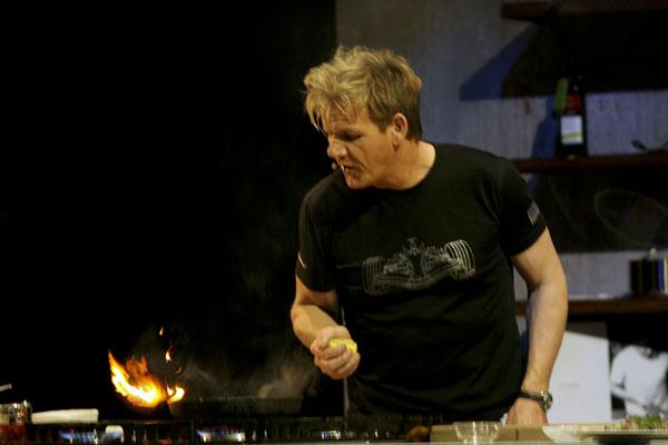 Gordon cooking Gordon Ramsay