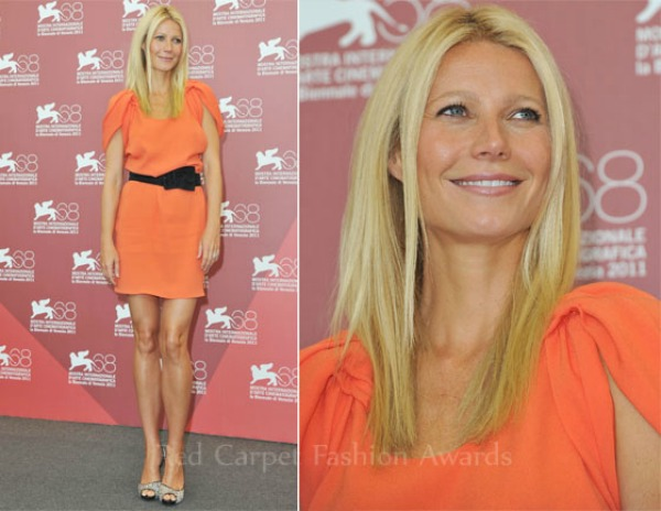 Gwyneth Paltrow In Prada Contagion Venice Film Festival Photocall1 Fashion Police   Filmski festival u Veneciji