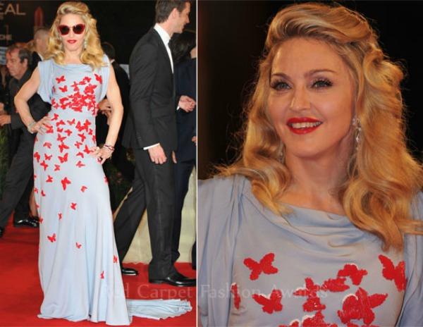 Madonna In Miu Miu WE Venjjjice Film Festival Premiere Fashion Police   Filmski festival u Veneciji