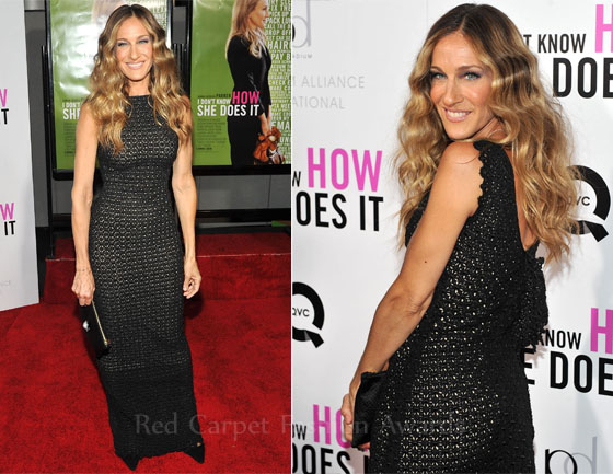 Sarah Jessica Parker In Antonio Berardi I Dont Know How She Does It New York Premiere Fashion police is back!