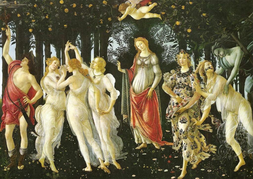 botticelli primavera 1024x726 Rinascimento: Sandro Botticelli (1444/5 1510)