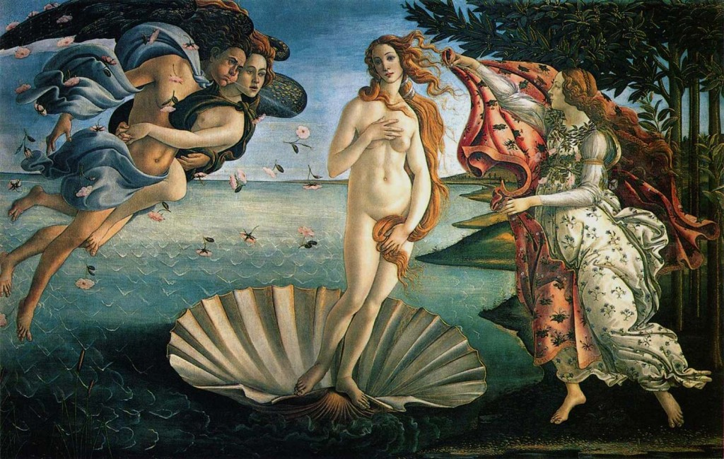 botticelli birth venus 1024x649 Rinascimento: Sandro Botticelli (1444/5 1510)