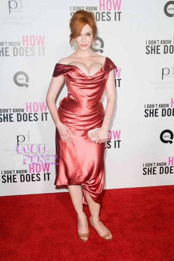 christina hendricks in vivienne westwood i dont know how she does it nyc premiere  oPt Trach Up