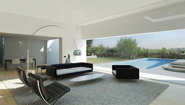 designer living room Moderan dizajn: vinograd i vila
