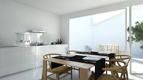 dining cum kitchen Moderan dizajn: vinograd i vila