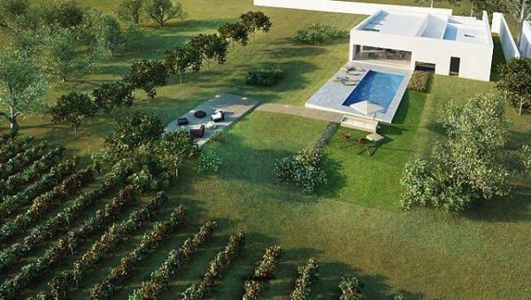 house exterior view Moderan dizajn: vinograd i vila