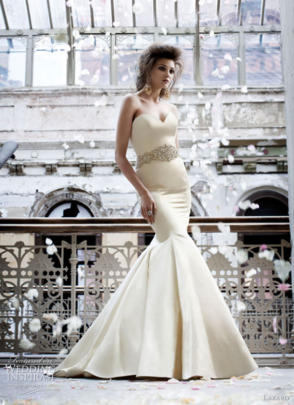 lazaro 3166 fall 2011 wedding dresses Lazaro venčanice jesen/zima 2011: bajkovito i ženstveno