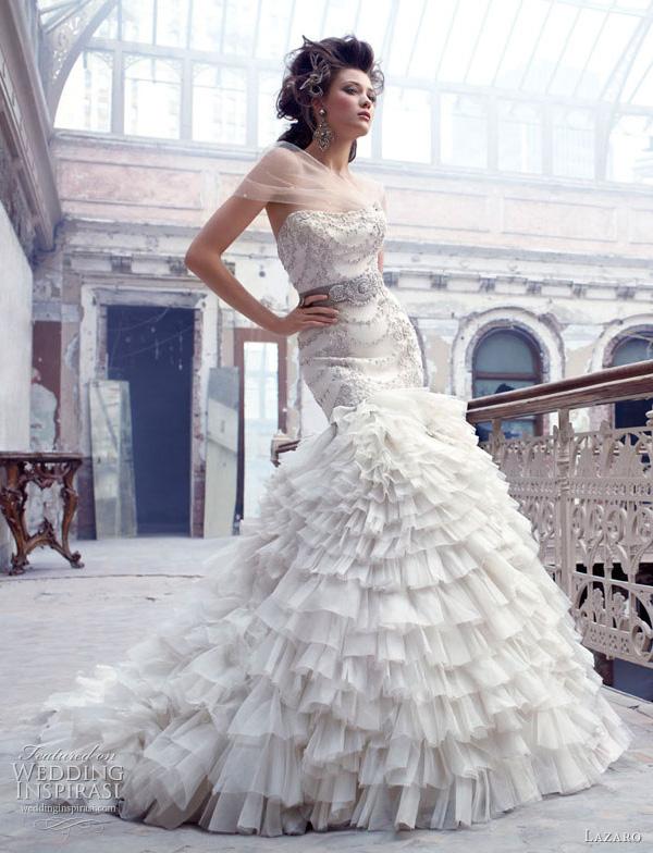 lazaro wedding dresses fall 2011 3150 Lazaro venčanice jesen/zima 2011: bajkovito i ženstveno