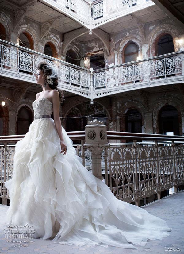 lazaro wedding dresses fall 2011 style lz3153 Lazaro venčanice jesen/zima 2011: bajkovito i ženstveno
