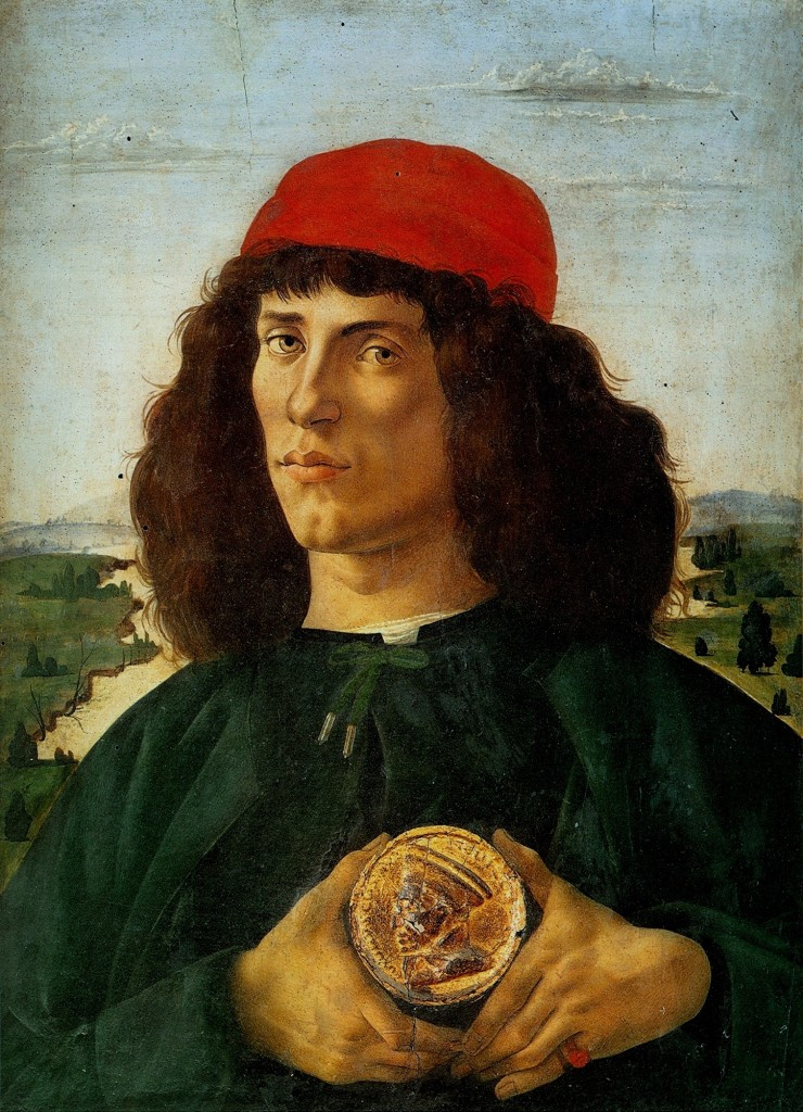portrait of a man with the medal of cosimo 14741 740x1024 Rinascimento: Sandro Botticelli (1444/5 1510)