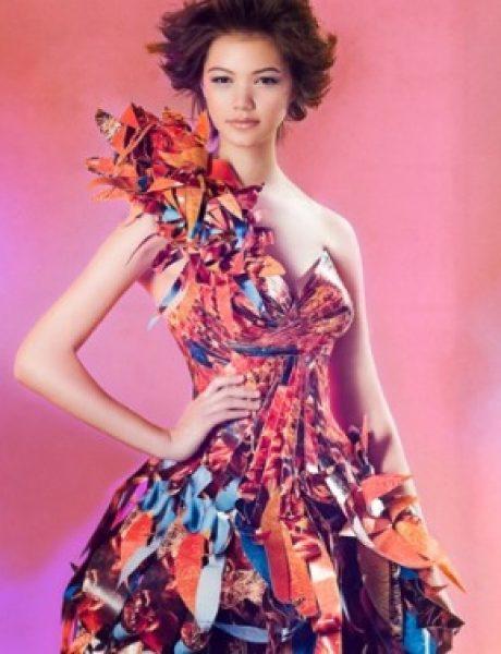 Glamurozne origami haljine by Lia Griffith