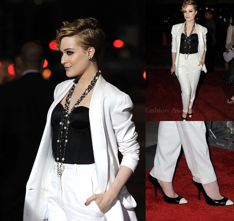 Evan Rachel Wood In YSL Ides of March LA Premiere Fashion police: Šta ste to obukle?