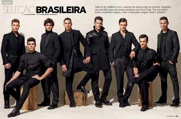 "GQ Brazil MALEMODELSCENE net 01 ""GQ Brazil"", oktobar 2011: Moć crne"
