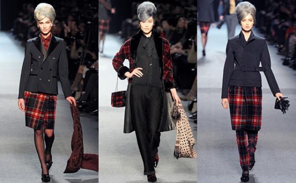 Jean Paul Gaultier ready to wear jesen zima 2011 2012 Ove jeseni nosimo karirano!