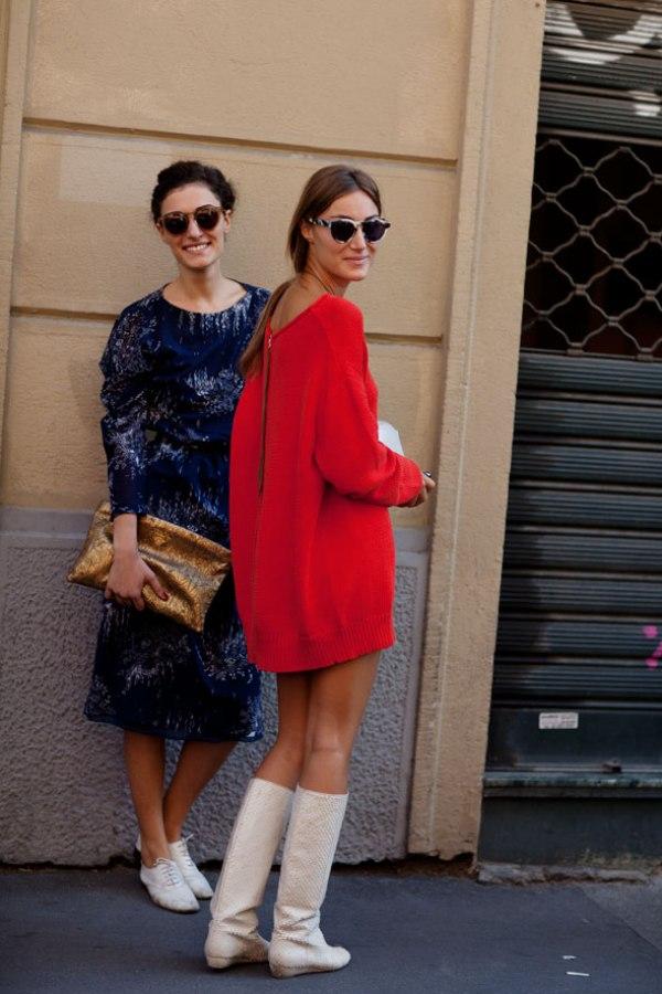 On the Street….Sisters Milan The Sartorialist Street Style: moderno i klasično