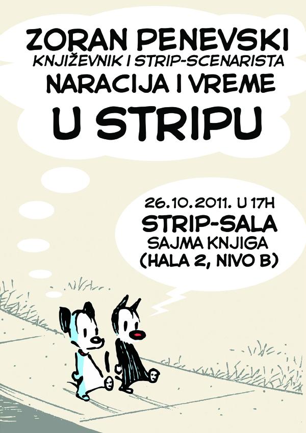 Penevski plakat 2 Beogradski Sajam knjiga: poziv na dešavanja u Strip sali