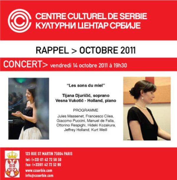 RAPPEL CONCERT Koncert: Les sons du miel