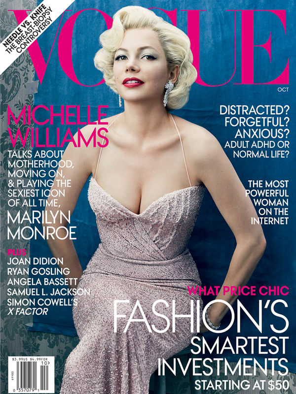 michelle williams cover vogue Modni zalogaji: Vogue odnosi pobedu, a Marks & Spencer dobija pojačanje