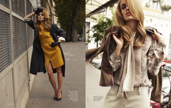 """tara asa elle ru 041 Tara Jean za """"Elle Russia"""", oktobar 2011."""