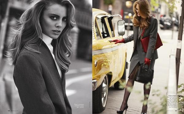 """tara asa elle ru 071 Tara Jean za """"Elle Russia"""", oktobar 2011."""