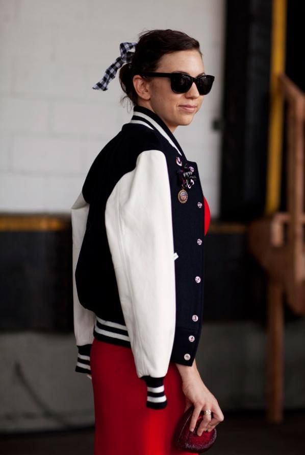091411varsityjacket8814webV2 Street Style: Smele kombinacije