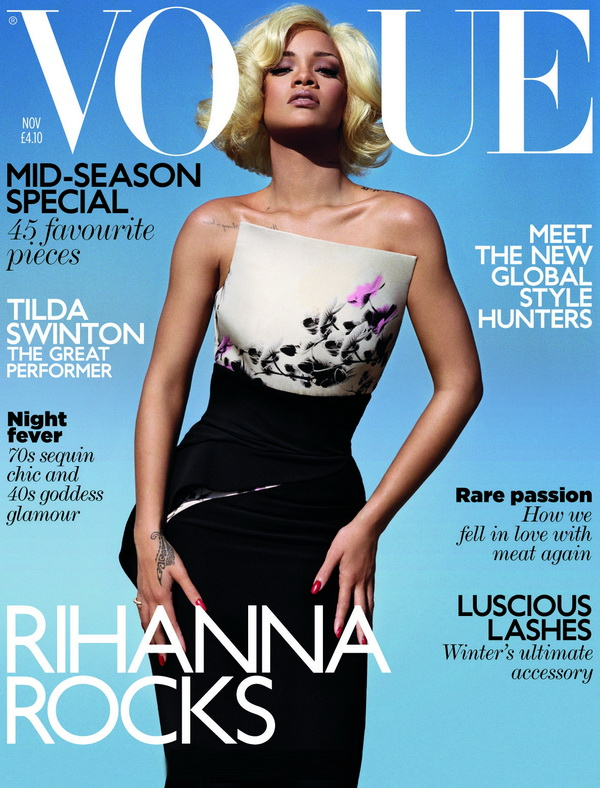 119 Marilyn Monroe is back: Rihanna za Vogue UK, novembar 2011.