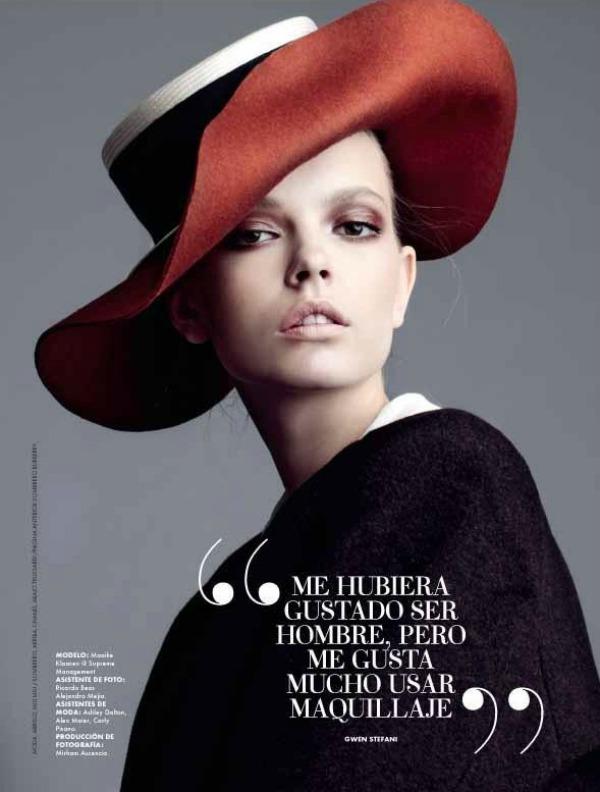 142 Mina Cvetković za Elle Latin America: Šešir glavu čuva