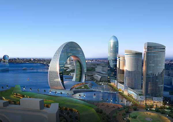 Cresent Hotel će zauvek promeniti pejzaž Bake Hoteli u Azerbejdžanu inspirisani mesecom