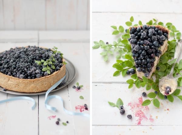 Dekorišite po želji i ukusu. Što više voća to je sigurnija pobeda kaloričnog dela kolača. Kolač sa borovnicama