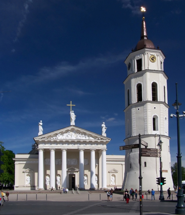 Glavno obeležje Viljnjusa Gradska katedrala Zelena prestonica u sred Evrope   Vilnjus, Litvanija