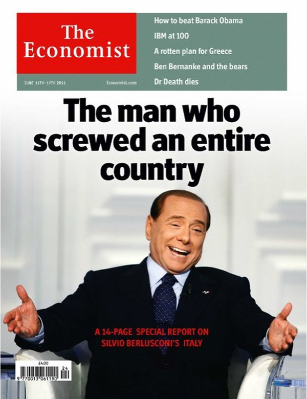 Silvio Berlusconi naslovnica Ekonomist magazina njegovog najveceg medijskog neprijatelja Stil moćnih ljudi: Nit' manjeg čoveka, nit' veće dreke