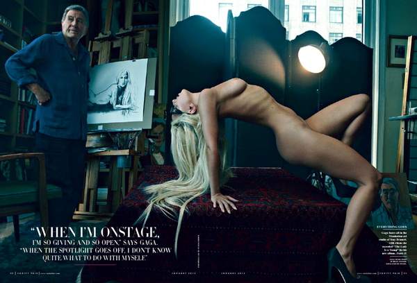 Slika 1 Lady Gaga bez dlake na... jeziku