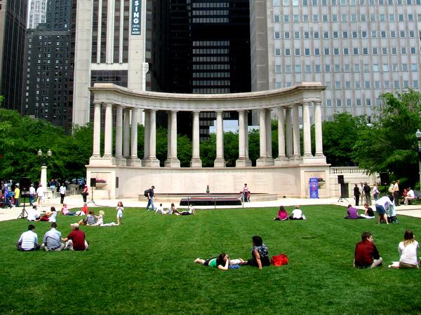 Slika 49 Trk na trg: Millennium Park, Čikago