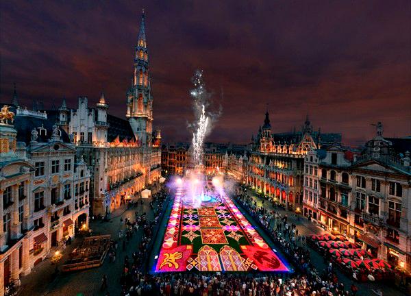 Slika 512 Trk na trg: Grand Place, Brisel