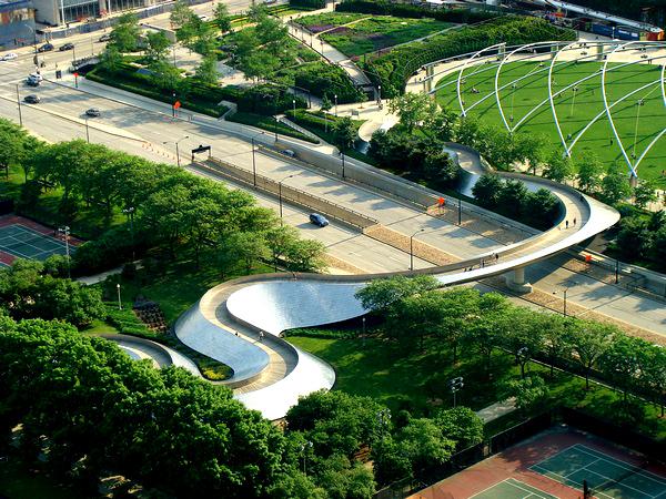 Slika 56 Trk na trg: Millennium Park, Čikago