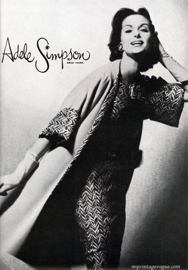 adele simpson 1956 anne st marie Vintage Fashion: Adele Simpson